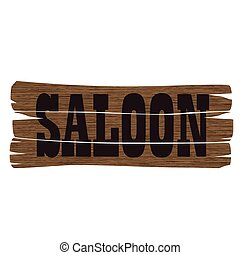 west saloon sign