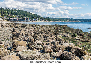 West Seattle Shoreline - The shoreline of West Seattle, ...