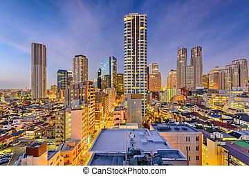 West Shinjuku, Tokyo Skyline - West Shinjuku, Tokyo, Japan...