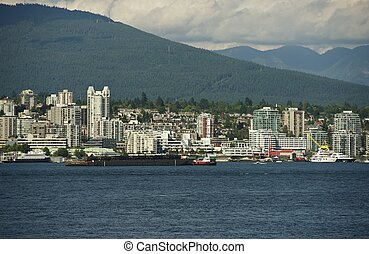 West Vancouver Skyline. West Vancouver, British Columbia,...