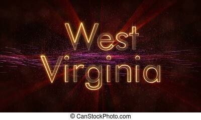 West Virginia - Shiny looping state name text animation -...