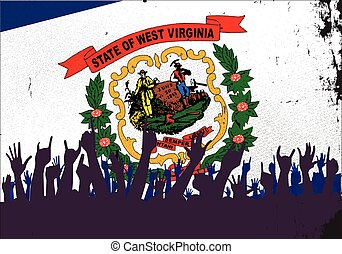 West Virginia State Flag with Audience