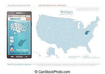west virginia - United States of America maps and West ...