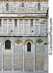 West Wall, Pisa Cathedral (Catedral de Pisa), Italy