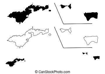 westelijk, krabbelen, v.s., swains, america), island),...