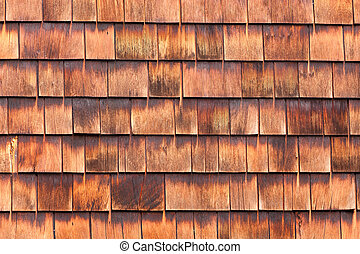 Westen red cedar shingles natural texture pattern