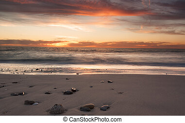 westen, sandstrand