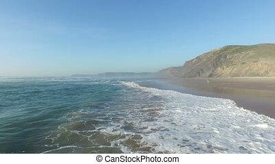 Westen, Wellen, Luftaufnahmen, wasserlandschaft