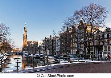 Westerkerk bridge Amsterdam