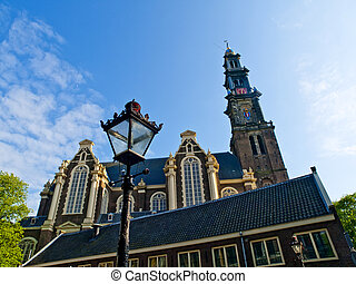 The Westerkerk was officially opened on Whitsunday 1631. It is one of the oldest churches especially built for the Protestant services, and the largest as such church in the Netherlands. The tower, which occupies a unique place in the affections of the people of Amsterdam, bears the symbol of the ...