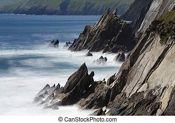 westerly, kopf, punkt, dieser, slea, meisten, ireland., ...