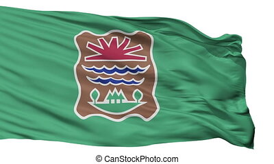 Western Abenaki Indian Flag Isolated Seamless Loop - Western...