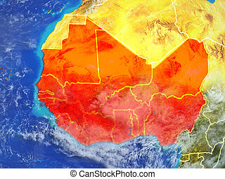 Western Africa on Earth from space