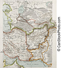 Western Asia bis - Western Asia political map. By Paul Vidal...