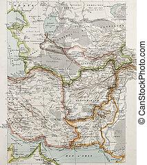 Western Asia political map. By Paul Vidal de Lablache, Atlas Classique, Librerie Colin, Paris, 1894 (first edition)
