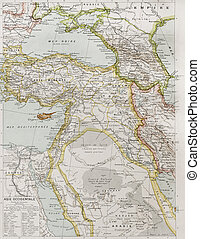 Western Asia political map. By Paul Vidal de Lablache, Atlas...