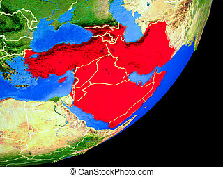 Western Asia on Earth from space