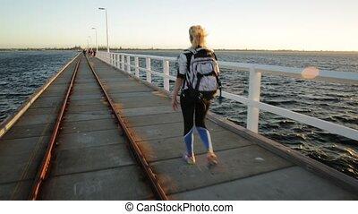 Western Australia travel freedom concept. Happy caucasian...