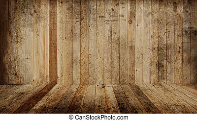 Western cedar plank floor and wall. Add your own objects.