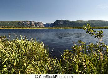 Western Brook Pond located in Newfoundland Canada