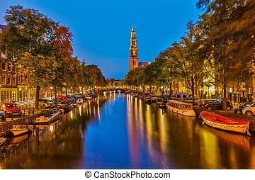Western church in Amsterdam - Western church on...