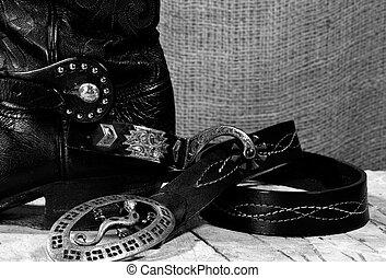 Western cowboy still life on the desk