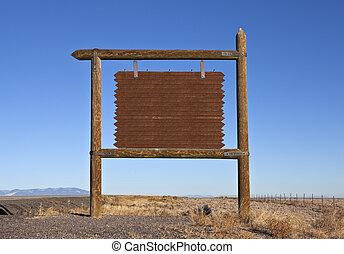 western, czysty, szosa, wiadomość, tablica ogłoszeń