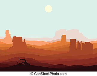 Western Desert Landscape Background