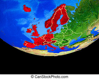 Western Europe from space on Earth - Western Europe from ...