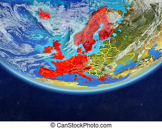 Western Europe from space on Earth - Western Europe on ...