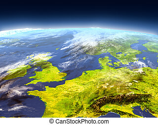 Western Europe from space - Western Europe from Earth's ...