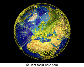 Western Europe on Earth from space - Western Europe from ...