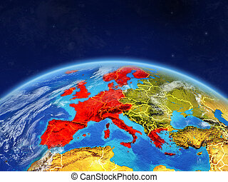 Western Europe on Earth from space - Western Europe on ...