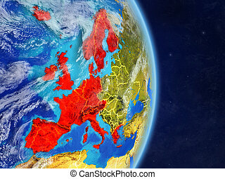 Western Europe on planet Earth - Western Europe on planet ...