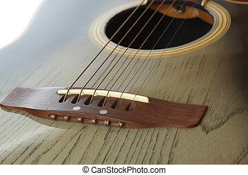 western guitar - detail of western guitar with shallow depth...