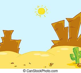 Western Landscape Illustration