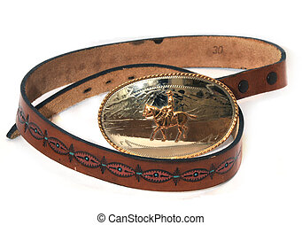 western leatherbelt buckle - hand made leather belt with...