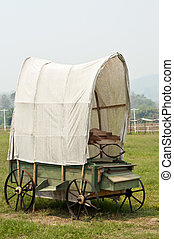 western, mód, wagon.