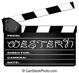 Western Movie Clapperboard - A typical movie clapperboard...