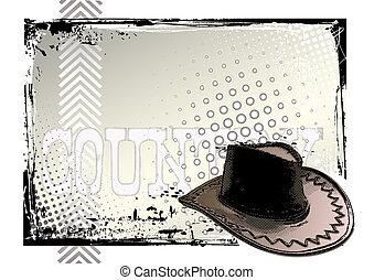 illustration of the cowboy hat