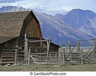 Western Ranch - An old fashioned western ranch on the...