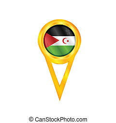 Western Sahara flag - Gold pin with the national flag of...