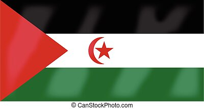 Western Sahara Flag - The flag of the African country...