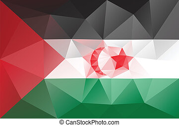 Western Sahara flag - Western sahara flag - triangular...