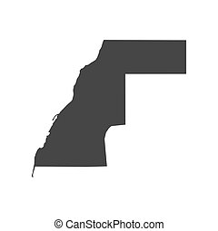 Western Sahara map on the white background. Vector...