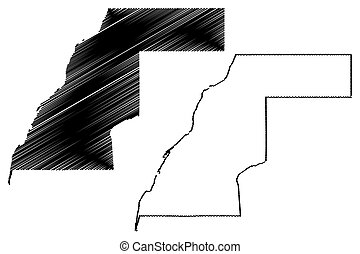 Western Sahara map vector illustration,