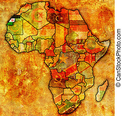 western sahara on actual map of africa