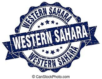 Western Sahara round ribbon seal