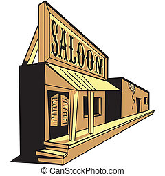 Western saloon cartoon of the old west clip art