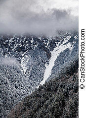 Western Sichuan, China, Baron Hill scenery with snow